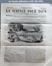 LA SCIENCE POUR TOUS  numéro 8 du 28 janvier 1858