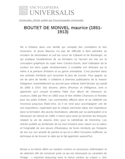 BOUTET DE MONVEL maurice (1851-1913)