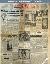 LA NOUVELLE REPUBLIQUE  numéro 3023 du 21 août 1954