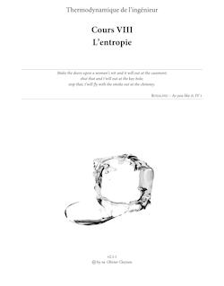 Cours VIII L'entropie