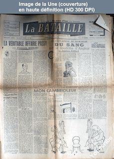 LA BATAILLE  numéro 94 du 11 septembre 1946