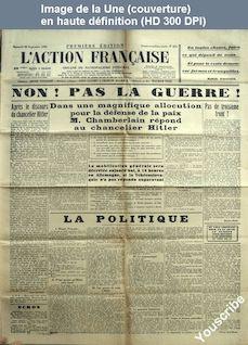 L' ACTION FRANCAISE  numéro 271 du 28 septembre 1938