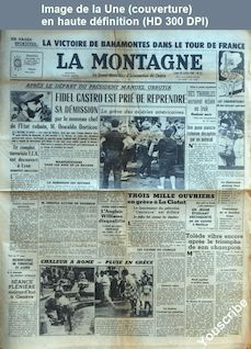 LA MONTAGNE  numéro 12729 du 20 juillet 1959