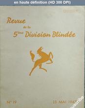 REVUE DE LA 5 EME DIVISION BLINDEE numéro 19 du 15 mai 1947