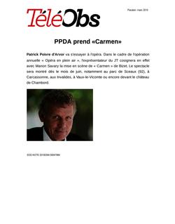 PPDA prend «Carmen»