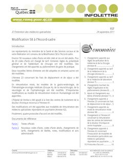 Modification 58 à l'Accord-cadre