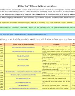 Nom du logiciel ou du site Type Adresse du site ou de téléchargement Description Niveau concerné Domaine s du socle commun