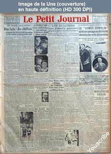 LE PETIT JOURNAL  numéro 24014 du 15 octobre 1928