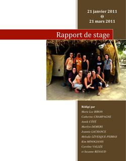 Rapport de stage - Fédération nationale des enseignantes et ...