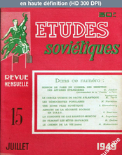 ETUDES SOVIETIQUES numéro 15 du 01 juillet 1949