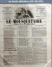 LE MOUSQUETAIRE  numéro 297 du 24 octobre 1855