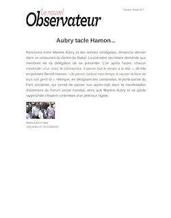 Aubry tacle Hamon...