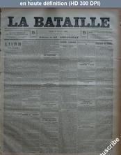 LA BATAILLE  numéro 757 du 09 février 1891