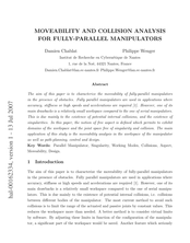 Moveability and Collision Analysis for Fully-Parallel Manipulators