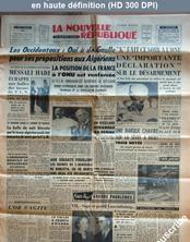 LA NOUVELLE REPUBLIQUE  numéro 4563 du 18 septembre 1959