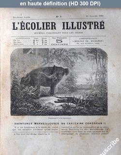L' ECOLIER ILLUSTRE  numéro 3 du 15 janvier 1891