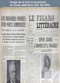 LE FIGARO LITTERAIRE  numéro 299 du 12 janvier 1952