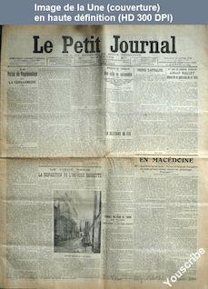 LE PETIT JOURNAL  numéro 16462 du 22 janvier 1908