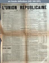 L' UNION REPUBLICAINE DE FONTAINEBLEAU  numéro 1277 du 23 octobre 1889