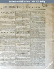 LE MONITEUR UNIVERSEL  numéro 25 du 25 janvier 1814