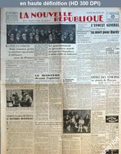 LA NOUVELLE REPUBLIQUE  numéro 742 du 24 janvier 1947