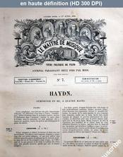 LE MAITRE DE MUSIQUE  numéro 7 du 01 avril 1881