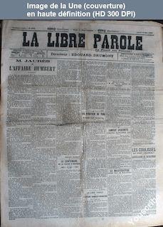 LA LIBRE PAROLE  numéro 3680 du 19 mai 1902