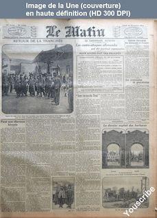 LE MATIN  numéro 11234 du 30 novembre 1914