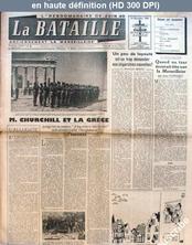 LA BATAILLE  numéro 3 du 14 décembre 1944
