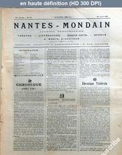 NANTES MONDAIN numéro 30 du 20 avril 1901