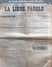 LA LIBRE PAROLE  du 01 octobre 1913