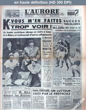 L' AURORE  du 28 mars 1960