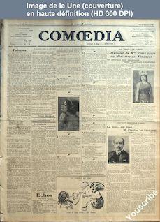 COMOEDIA numéro 526 du 09 mars 1909