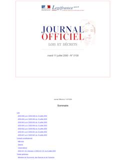 JORF n°159 du 11 juillet 2000