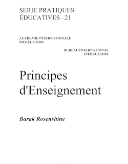 Principles of instruction; Educational practices series; Vol.:21; 2010 ...