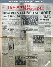 LA NOUVELLE REPUBLIQUE  numéro 2584 du 06 mars 1953