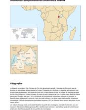 Géographie Informations complémentaires concernant le Rwanda