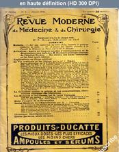 REVUE MODERNE DE MEDECINE ET DE CHIRURGIE numéro 1 du 01 janvier 1910