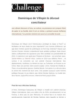 Dominique de Villepin le dévoué conciliateur