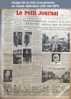 LE PETIT JOURNAL  numéro 25984 du 08 mars 1934
