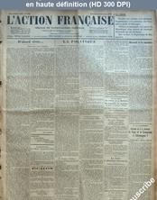 L' ACTION FRANCAISE  numéro 352 du 18 décembre 1925
