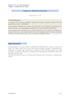 Correction chapitre 4 - Physique-Chimie Sirius 2012