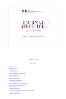 Journal officiel n°212 du 11 septembre 1991