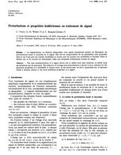 Perturbations et propriétés holdériennes en traitement de signal