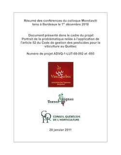 Résumé des conférences du colloque Mondiaviti tenu à Bordeaux le ...