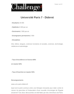 Université Paris 7 - Diderot