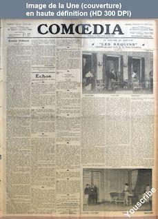 COMOEDIA numéro 2198 du 08 octobre 1913