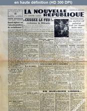 LA NOUVELLE REPUBLIQUE  numéro 292 du 17 août 1945