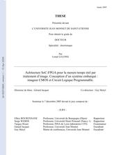 Architecture SoC-FPGA pour la mesure temps réel par traitement d'image. Conception d'un système embarqué : imageur CMOS et Circuit Logique Programmable.