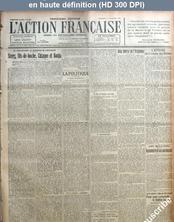 L' ACTION FRANCAISE  numéro 308 du 03 novembre 1920